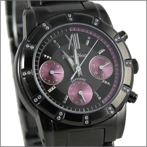 【萬年鐘錶】 Roven Dino 羅梵迪諾 楊丞琳代言 三眼全黑紫圈 小 RD608B