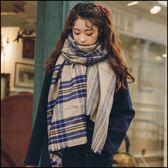 仿羊絨厚款英倫風彩色格紋圍巾 披肩★ifairies【71598】