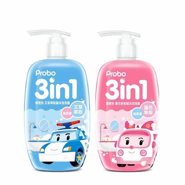 博寶兒洗髮沐浴泡泡露500ml -POLI 莓果香(粉-安寶)/蘋果香(藍-波力)
