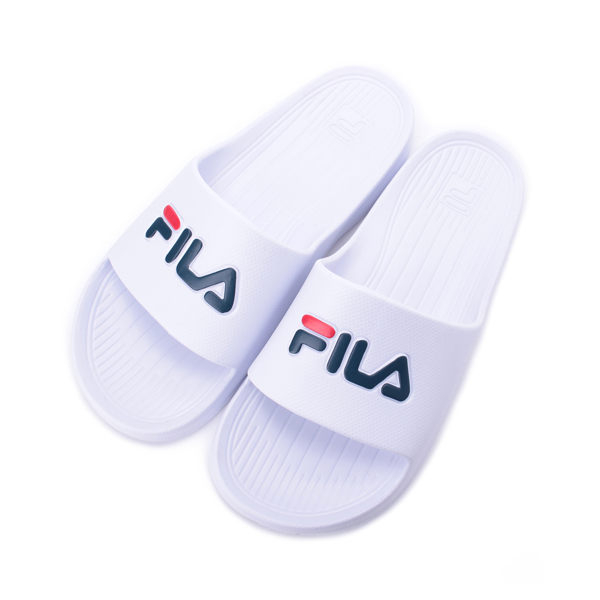 FILA 大LOGO套式拖鞋 白 4-S355Q113 男鞋 鞋全家福