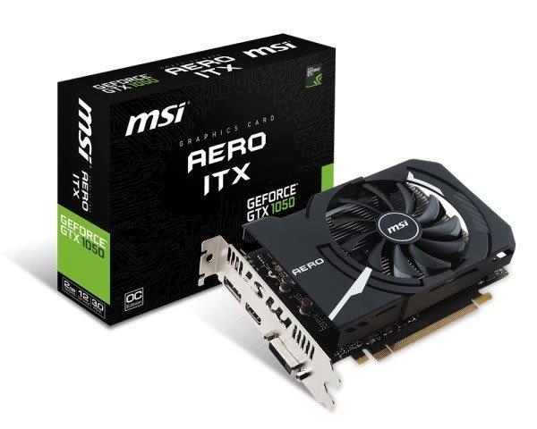 MSI 微星  GTX 1050 AERO 2G OCV1 PCI-E顯示卡【刷卡含稅價】