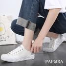 PAPORA網紅休閒運動帆布板鞋布鞋餅飦鞋K2316黑/黃/白(偏小)