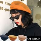 [現貨有影片] 毛呢 硬挺版型 貝雷帽 畫家帽 帽子 女生配件 素色 復古文青 簡約韓風 C2067