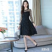 禮服洋裝 2019秋裝新款韓版時尚氣質法式復古高貴連身裙女 YN1509『易購3c館』