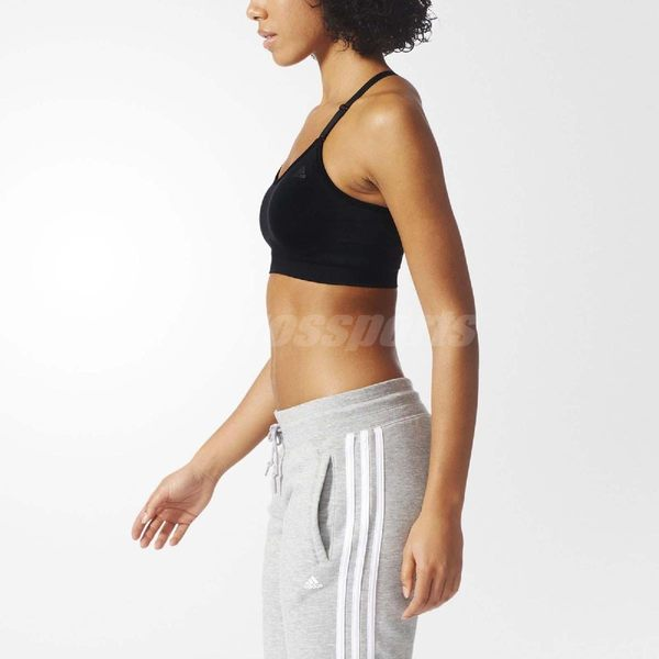 adidas 運動內衣 SEAMLESS BRA 女款 無鋼圈 胸罩 基本款 內搭 背心 Y字可調式肩帶 黑 【PUMP306】 AJ5070