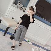 女童休閒褲 女童闊腿褲套裝夏裝新款大女童短袖兩件套5-9-12歲超洋氣夏季  寶貝計畫
