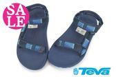 美國TEVA 男童 親子鞋 HURRICANE 2 經典織帶水陸運動涼鞋 零碼出清 I6442#黑藍◆OSOME奧森童鞋/小朋友