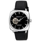 【萬年鐘錶】BRISTON  法國時尚 錶框  機械錶 淺黑皮帶 18740-PS-I.1-LVCH