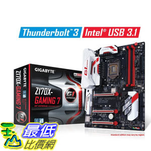[美國直購] Gigabyte 主機板 LGA1151 Intel Z170 2-Way SLI ATX DDR4 Motherboards GA-Z170X-Gaming 7