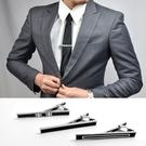 領帶夾 簡單俐落黑底設計NKM14