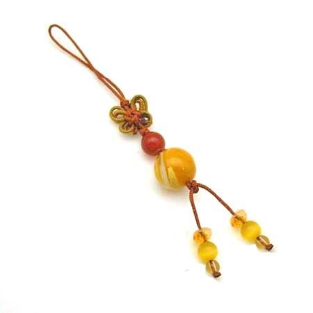 黃金硨磲圓珠開運吊飾