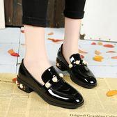 新款原宿小皮鞋女夏季英倫百搭平跟學生單鞋女鞋子復古一腳蹬 QQ2651『樂愛居家館』