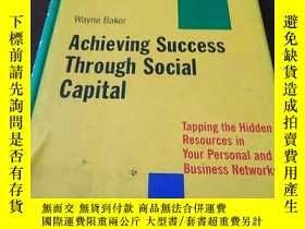 二手書博民逛書店Achieving罕見Success Through Socia