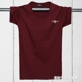 純棉男短袖T恤圓領加肥加大碼潮胖子寬鬆運動半袖6XL男裝 美好生活