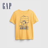 Gap男童 Gap x Snoopy 史努比系列純棉短袖T恤 689878-黃色