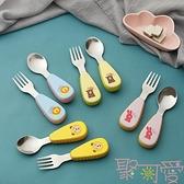 兒童餐具嬰幼叉子勺子套裝學吃飯訓練【聚可愛】