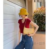 夏季小包包女2020新款流行網紅法國小眾設計腋下包側背手提法棍包 魔法鞋櫃