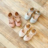 【全館】現折200女童涼鞋夏季新款正韓蝴蝶結兒童公主鞋寶寶鞋包頭涼鞋女童鞋