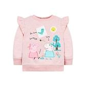 mothercare 粉色粉紅豬長袖上衣-PP豬系列(M0QB727)09M、12M
