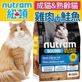 四個工作天出貨除了缺貨》加拿大紐頓》S5雞肉+鮭魚成貓&熟齡貓貓糧-1.13kg