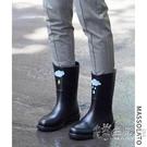 雨鞋女士水鞋時尚外穿韓國可愛中筒膠鞋防水防滑水靴套鞋女式雨靴 小時光生活館