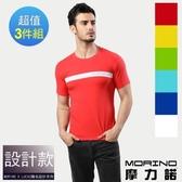 【南紡購物中心】【MORINO X LUCAS】時尚型男短袖衫(超值3件組)