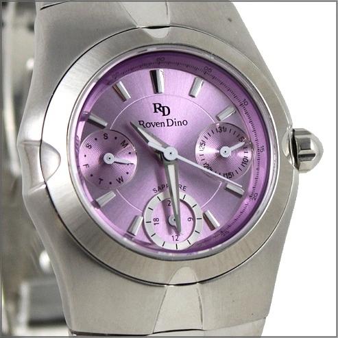 【萬年鐘錶】 Roven Dino 羅梵迪諾 楊丞琳代言 三眼淺紫小 RD9802