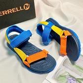 《7+1童鞋》中大童 MERRELL 織帶輕量 運動涼鞋 E177 彩色