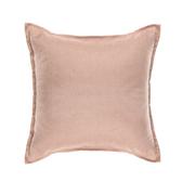 HOLA 新素色織紋抱枕50x50cm 梅粉色