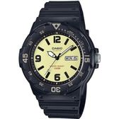 CASIO 魅力潛水風格運動腕錶-黃面(MRW-200H-5B)