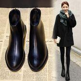 馬丁靴女英倫風學生韓版百搭靴子女粗跟短靴女秋季潮 街頭布衣