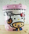 【震撼精品百貨】ONE PIECE&HELLO KITTY_聯名海賊王喬巴&凱蒂貓系列~防水袋-粉色