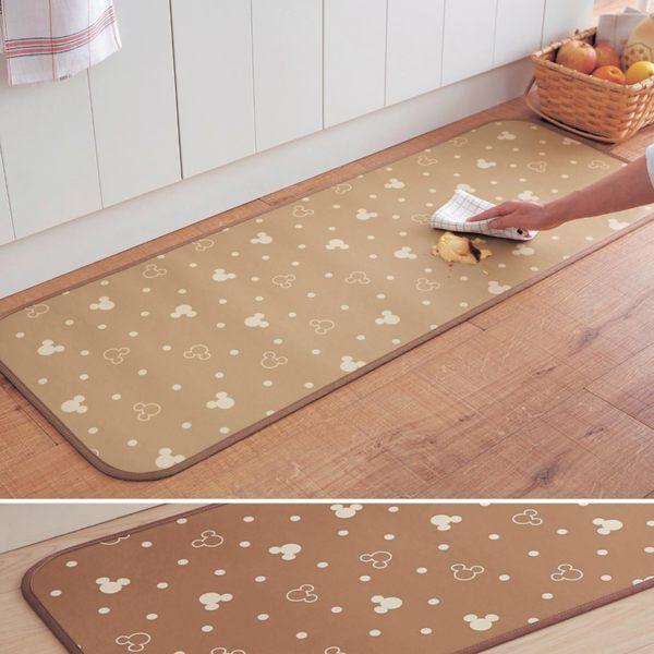 迪士尼限定米奇腳踏墊地毯地墊廚房防水吸水蒂電日本製120979通販屋