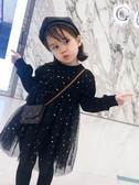 女童連身裙女寶寶裙子加絨公主裙洋氣兒童新款加厚保暖秋冬季女童連身裙童趣屋促銷好物