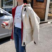 春秋韓版寬鬆大碼BF原宿學生嘻哈風工裝風衣外套女外套港風棒球服