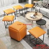 魔方矮凳方圓家用小戶型沙發換鞋小板凳客廳可疊放組合茶幾凳子【時尚好家風】