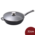 Berndes寶迪 黑鑽鈦金不沾鍋平底鍋+蓋 深鍋 32cm 電磁爐不可用