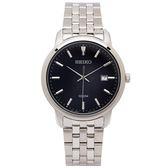 SEIKO 黑色光芒錶盤款的男性手錶(SUR261P1)-黑面X銀色/42mm