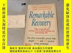 二手書博民逛書店Remarkable罕見recovery英文原版Y182979