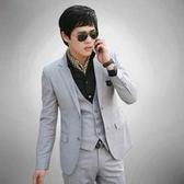 西裝套裝含西裝外套+褲子-俐落精選職業成套男西服2色6x27【巴黎精品】