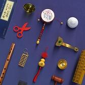 中式抓周用品一周歲抓鬮道具套裝玩具男女孩寶寶生日禮物布置紅布 童趣屋 免運