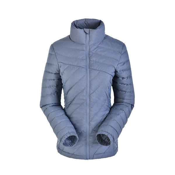 【聖伯納St. Bonalt】女-超輕可攜式羽絨外套(8097)-灰色 防水 防風 保暖 戶外 收納 短版 時尚 修身