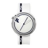 【FILA 斐樂】月蝕系列簡約線條設計腕錶-個性黑/38-161-106/台灣總代理公司貨享兩年保固