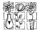 【貝登堡】楓木印章/木頭印章/木頭章 三個花盆 KT-4445