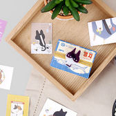 【BlueCat】裝箱貪睡貓盒裝貼紙 (48入)