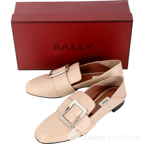 BALLY JANELLE 穿釦設計皮革穆勤鞋(裸膚色) 1830562-E2