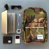 Hsin 出清 現貨 Herschel Supply Woodside 長型 Camo 迷彩 3M反光條 帆布 筆電夾層 書包 後背包