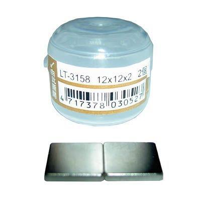 MIN SHIN 旻新LT-3158強力磁鐵方型 12x12mm*2入