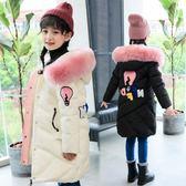 女童棉衣2018新款韓版洋氣中大童棉襖外套兒童羽絨棉服中長款冬裝