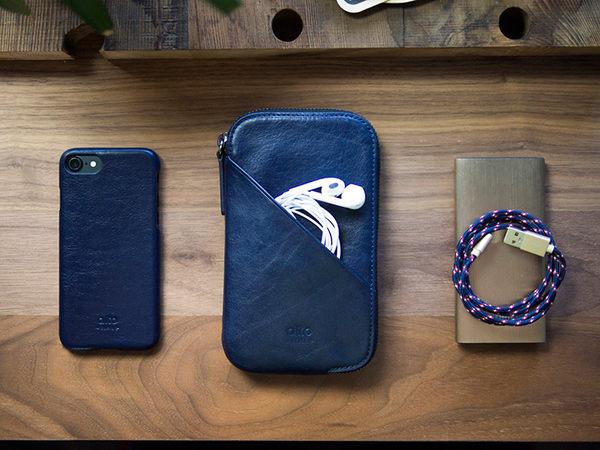 alto 皮革手機收納包 - 海軍藍【可加購客製雷雕】皮革保護套 護照夾 手拿包 皮夾 長夾